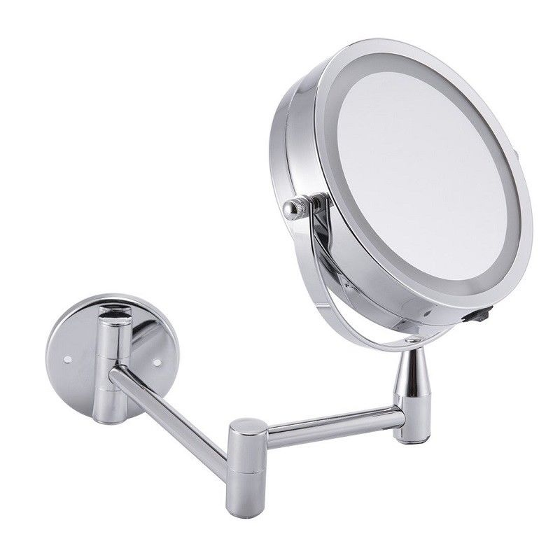 ANHO 6 Inch Adjustable LED Makeup Mirror 1Xu00263X Magnification Wall Mounted  Mirror Dual Arm Extend Cosmetic Mirror In Decorative Mirrors From Home U0026  Garden On ...