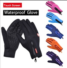 Touch Screen Windproof Outdoor Sport Gloves Men Women Winter Running Warm  Glove