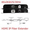 LKV378-4K 4 К X 2 К Hdbitt HDMI Over IP Волоконно-Оптические Extender Передает 4 К x 2 К @ 25/30 Гц 3D Глубокий Цвет 24bit ЦИК HDCP Отправитель Получатель
