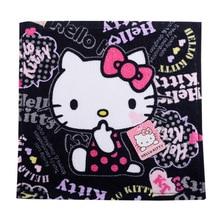 Милый хлопковый квадратный шарф с рисунком Hello kitty, мягкий абсорбирующий платок для детей, мальчиков, девочек и взрослых, 26x26 см
