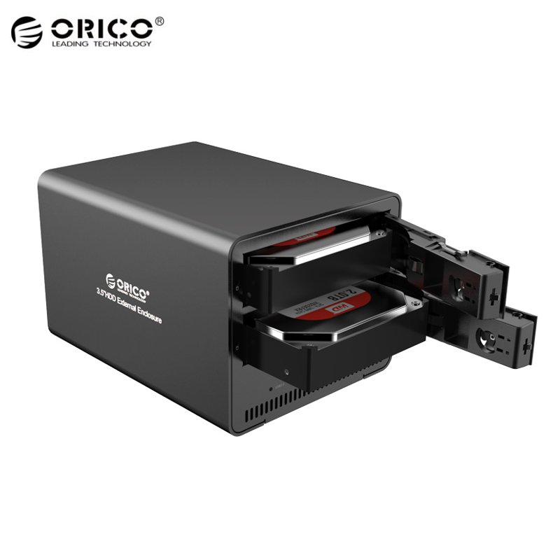 ORICO Super Speed Aluminum 2-bay 3.5 SATA to USB3.0 HDD Enclosure External Hard Drive Enclosure For Notebook Desktop PC