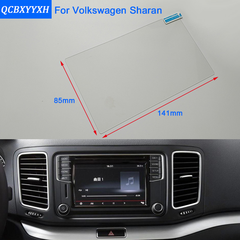 Car Styling 6.5 Inch GPS Navigation Screen Steel Glass Protective Film For Volkswagen Sharan Control of LCD Screen Car Sticker car mp5 player bluetooth hd 2 din 7 inch touch screen with gps navigation rear view camera auto fm radio autoradio ios
