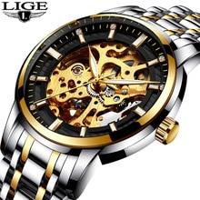Mens Watches Top Brand LIGE Luxury Automatic Mechanical Watch Men Fashion Business Waterproof Sport Relogio Masculino