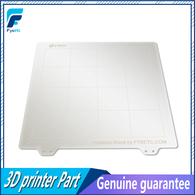 Special Offers 1pc New 235 * 235mm Spring Steel Sheet Heat Bed Platform Flexible Artificial Model For Creality Ender-3 CR-20 3D Printer Parts