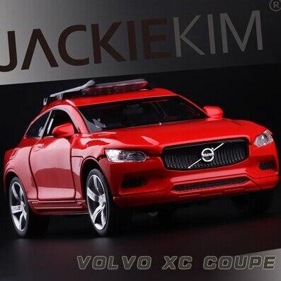 Новый Volvo XC пара 1:32 модель автомобиля детские игрушки XC90 ВНЕДОРОЖНИК двойные Лошади вытяните назад звук и свет происхождения с подставкой свободная перевозка груза подарок