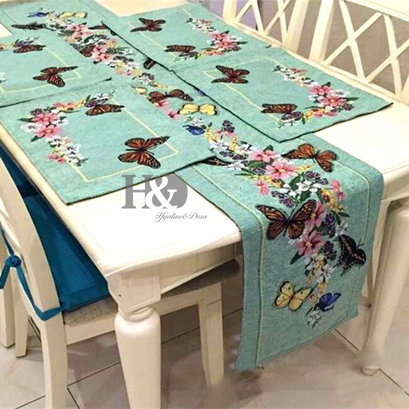 Wonderful 2PCS/lot Vine Butterfly Country Style Wedding Bed Table Runner Table Cloth  Dining Mat Placemat Dining Mat Table Cover Home Decor In Tablecloths From  Home ...