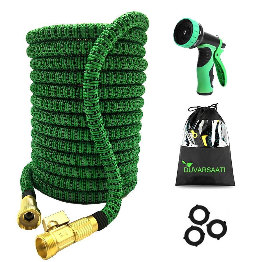 4 Types EU Version Garden Watering Hose 25FT 100FT Flexible Garden Magic Hose Set With Spray Gun To Watering Lawn Car Wash hoses Garden Hoses & Reels     - title=