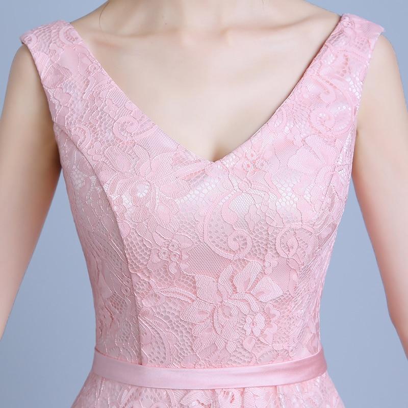 Real Photo Women Long Formal Prom Gown V Halskjede Kjole - Spesielle anledninger kjoler - Bilde 5