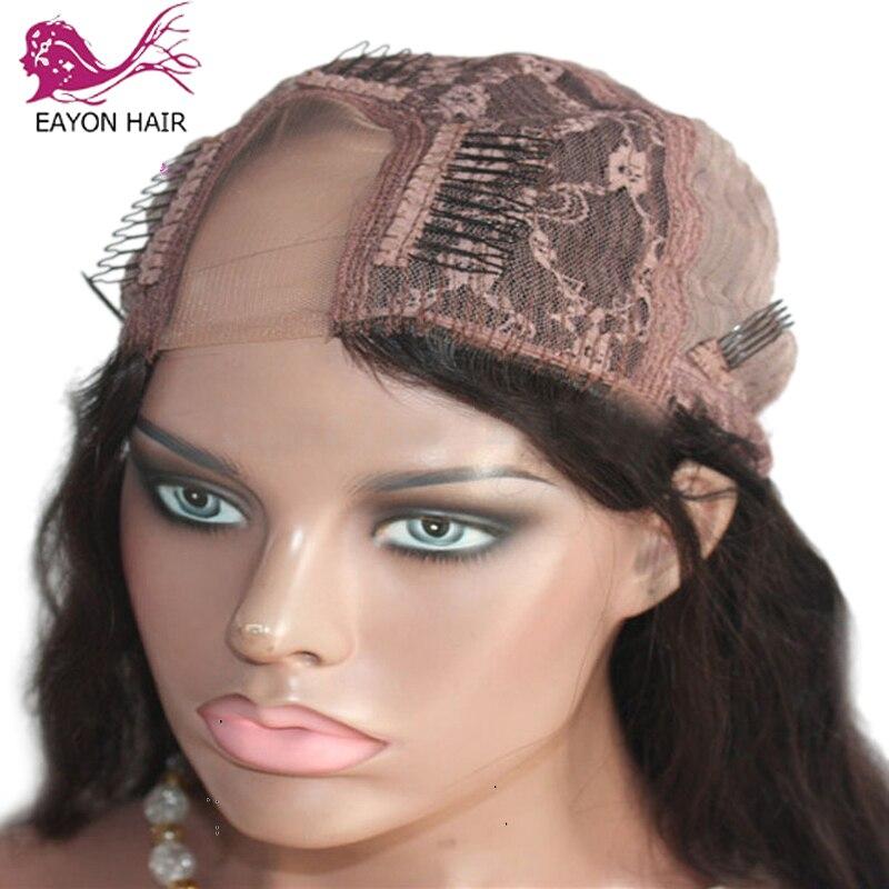 EAYON 180% densité Afro crépus bouclés U partie perruque cheveux humains vierge mongole Remy cheveux humains Upart perruques crépus boucles pour les femmes - 3