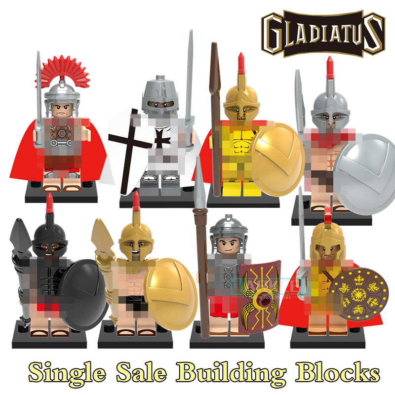 Building Blocks X0164 Rome Commander Gladiatus Figures Medieval Knights Star Wars Super Heroes Bricks Kids DIY Toys Hobbies single building blocks kits ninja pythor kozu lloyd zane nya figures super heroes star wars model bricks kids toys hobbies x0143