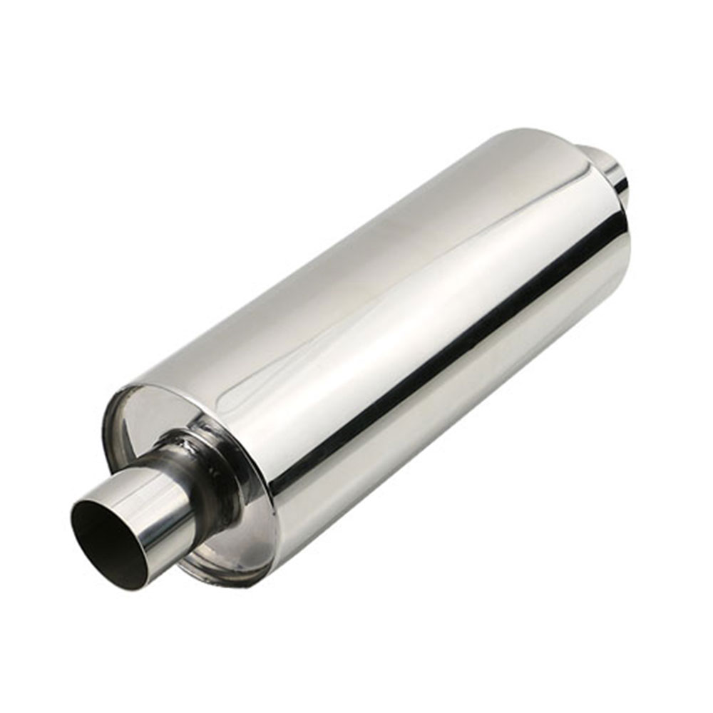 Stainless Steel 2'' 2.5'' 3.5'' Car Exhaust Muffler Pipe Chrome Silver Straight through Steel Wool Resonator For Auto Free Ship