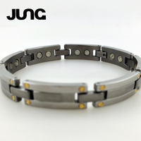 JUNG New Year S Gift Fashion Healthy Magnetic Stainless Steel Health Care Elements Bracelet Hand Chain