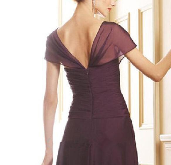 Лидер продаж шифоновый платок рукав до колена короткие женские Формальные платья vestidos de fiesta de noche