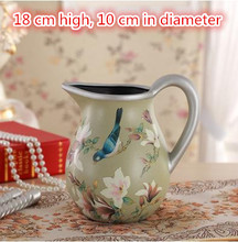 Euramerican style ceramic flower vases, arts and crafts decoration