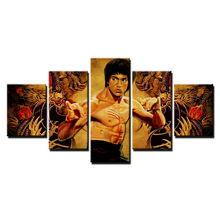 5 pcs,Full Square 5D DIY Diamond Painting Kung fu star Bruce Lee Full diamond Embroidery Cross Stitch Rhinestones Y2466