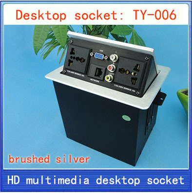 NEW Desktop socket / hidden multimedia information box outlet / network RJ45 video Audio VGA  interface desktop socket TY-006 new l0211 multimedia desktop socket multifunctional desktop socket outlet three plug socket network meeting