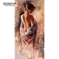 ZOOYA Diamond Embroidery DIY Diamond Painting Color Women Sexy Back Diamond Painting Cross Stitch Rhinestone Decoration