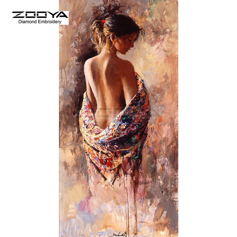 ZOOYA Diamond Embroidery DIY Diamond Painting Color Women Sexy Back Diamond Painting Cross Stitch Rhinestone Decoration CJ757