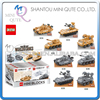 Full Set Mini Qute DR STAR 8pc Lot Military Army Fighting War Tank Vehicle Plastic Building