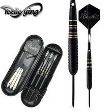 3PCS/Set of Darts Professional 23 g Carved Pole Black Steel Tip Aluminum Tree Beautiful Flight Sports Games