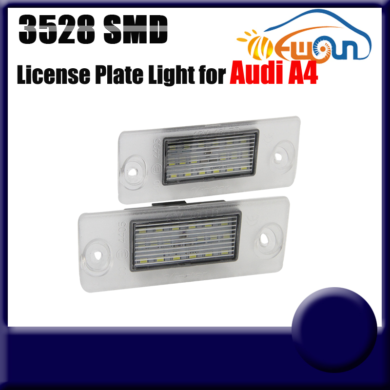 LED License plate light for AUDI 7000k 3528SMD licence frame lamp Super Bright LED car tail number plate light (FREESHIPPING)  цена и фото