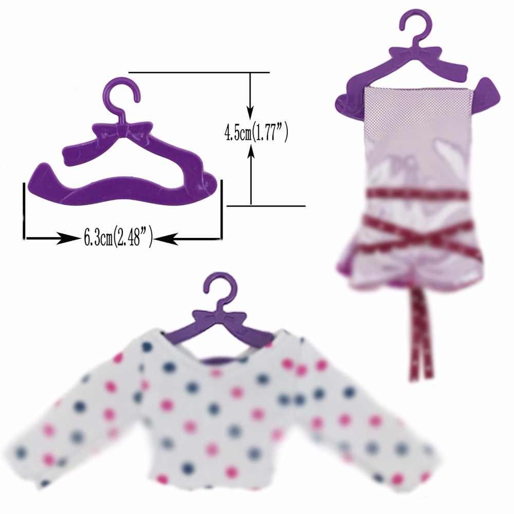 """20 шт. Высокое качество модные вешалки пластмассы багаж-перевозчик Clolthes платье аксессуары для Барби Кукла 12 """"игрушка девочка"""