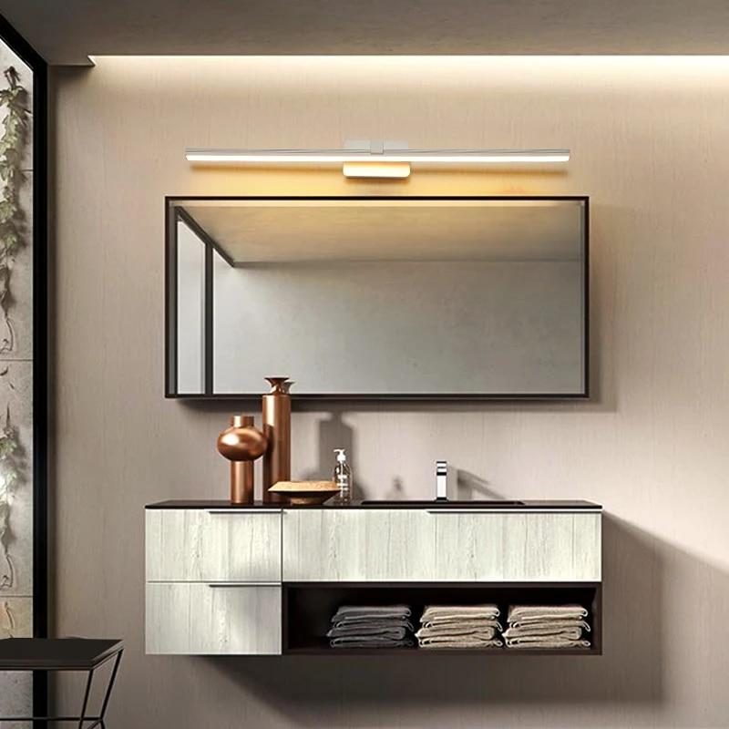 Simple Modern Led Mirror Before The Lamp Bathroom Bathroom Mirror Cabinet Lighting Waterproof Fog Lamps Nordic Bathroom Lights Ceiling Lights Aliexpress