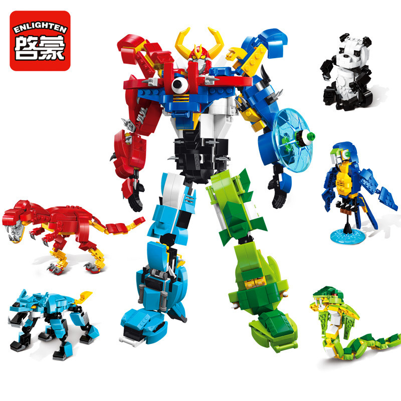 Enlighten Models Building toy Compatible with Lego E1403 809pcs Robot Blocks Toys Hobbies For Boys Girls Model Building Kits