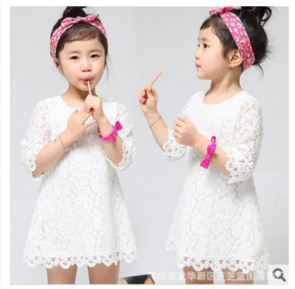 White Casual Dresses for Girls
