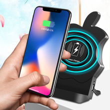 AIYIMA QI Wireless Charger For iPhone X XS XR 8 8Plus Car Holder Mount Charging Samsung Note 9 S9 S8