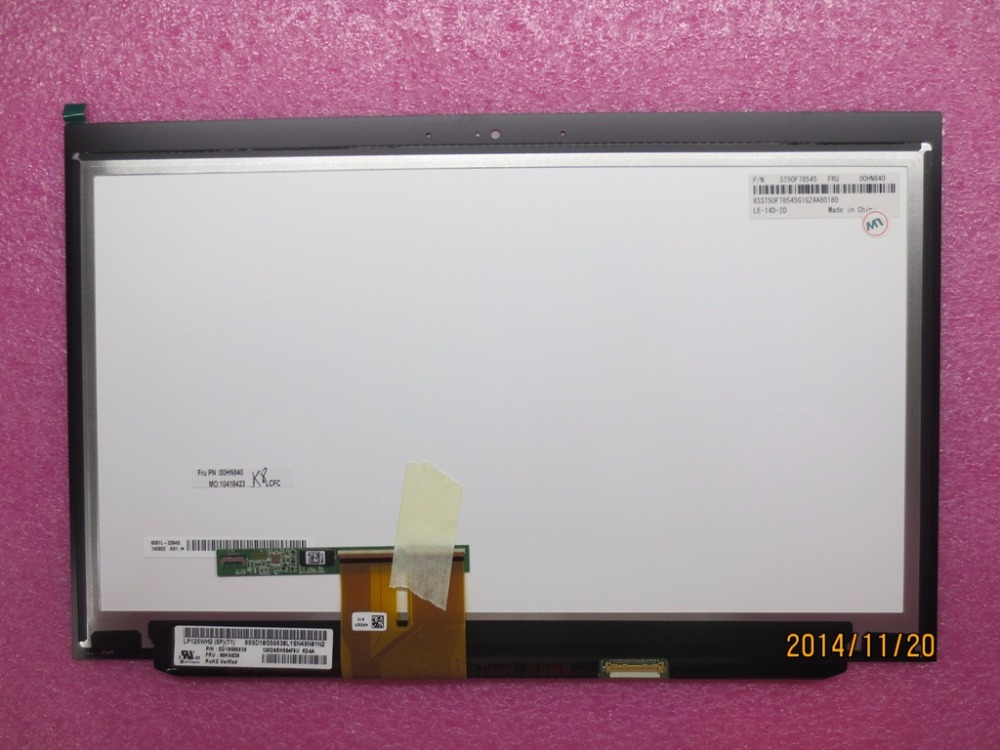 New Original for Lenovo ThinkPad X240 X240S X250 HD Lcd Touch Screen Panel LG W/ Bezel 00HN840 00HN841 00HM149 LP125WH2(SP)(T1)