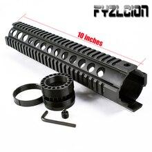 цена на Tactical Hunting 10 Inch AR .223/5.56 Free Float Quad Handguard Rail Tube AR15 AK M16 M4 Handguard RAS Airsoft Paintball