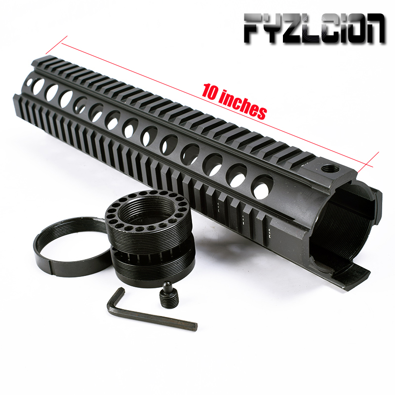 Tactical Hunting 10 Inch AR .223/5.56 Free Float Quad Handguard Rail <font><b>Tube</b></font> AR15 AK M16 <font><b>M4</b></font> Handguard RAS Airsoft Paintball image