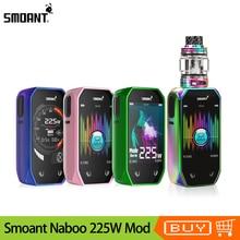 Original Smoant Naboo 225W TC Box MOD New Music mode 2.4 Inch Screen Vape Mod With 4ml Mesh sub ohm tank E Cigarette Kit