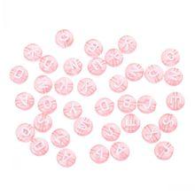"""DoreenBeads акриловые бусины плоские круглые розовые Смешанные Алфавит/буквы узор около 7 мм(2/"""") Диаметр, отверстие: около 1,3 мм, 500 шт"""