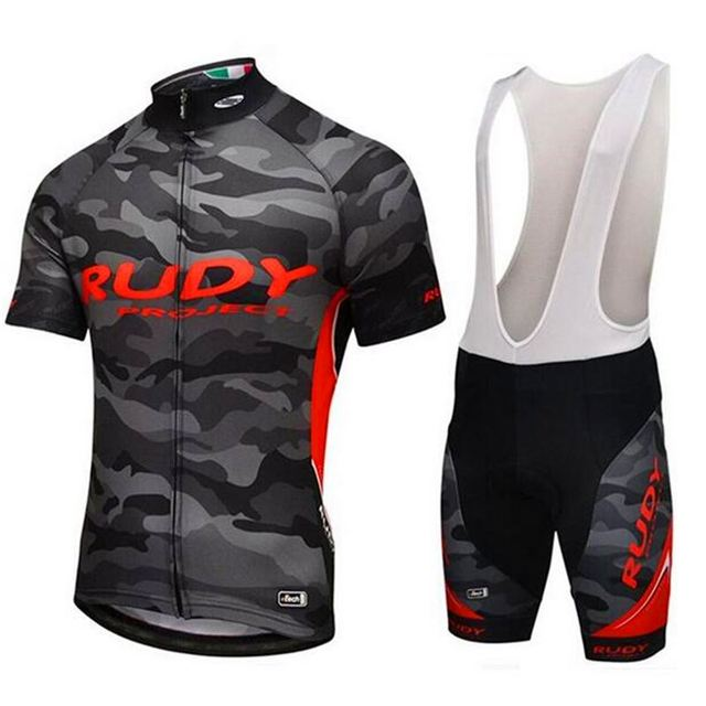 RUDY pro team Camo cycling jersey kits mens summer bike cloth MTB Ropa  Ciclismo Bicycle maillot gel pad 85eb2998c