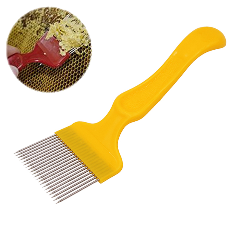 DLKKLB 1Pc 21 Pin Stainless Steel Tines Comb Good Quality Hive Equipment Apiculture Cut Honey Fork Bee Beekeeping Tools