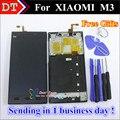 Piezas de reparación de alta calidad para xiaomi 3 m3 mi3 pantalla lcd y pantalla táctil digitalizador de reemplazo celular con marco