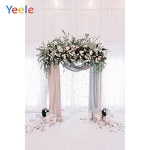 Yeele Flowers Photographic Backgrounds Wedding Photocall Curtain Wreath Photography Backdrops for photo studio
