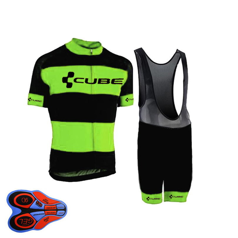 2018 CUBE Pro Team Cycling Jersey Set Tops Summer Bicycle Clothing Ropa Ciclismo Breathable MTB Bike Racing Sport Wear Suit A15B teleyi bike team racing cycling jersey spring long sleeve cycling clothing ropa ciclismo breathable bicycle clothes bike jersey