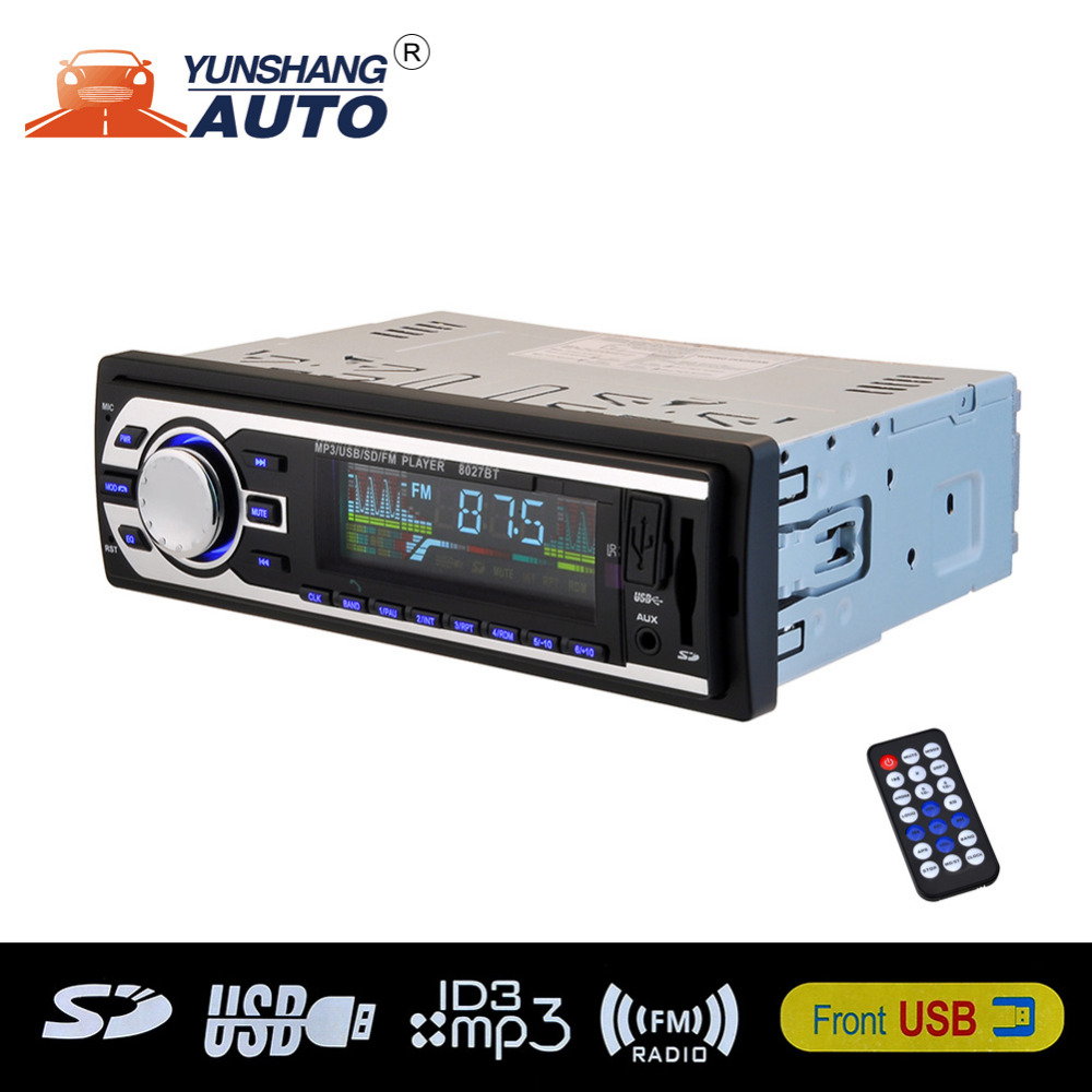 bluetooth stereo car audio in dash fm radio receiver aux. Black Bedroom Furniture Sets. Home Design Ideas
