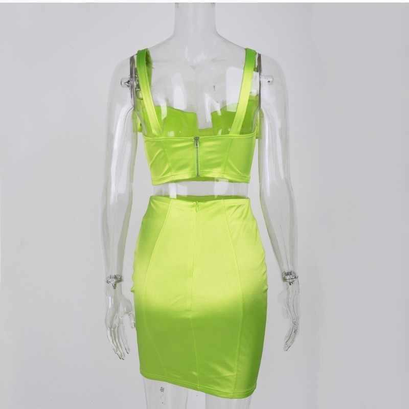 Летнее вечернее платье для женщин 2019 Новое Сетчатое Плиссированное облегающее, сексуальное, вечернее платье мини приталенное зеленое платье с рюшами