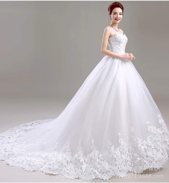 76ce7e939a Sleeveless Wedding Dress 2018 New Pattern Bride Marry Top Land Korean Lanky  Tailing High Quality Ball