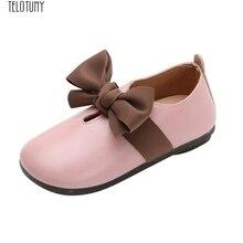 e866d474c TELOTUNY الطفل عقدة شعر للفتيات الرقص أحذية من الجلد الأميرة الأزياء أحذية  ناعمة Bowknot طالب واحد لينة الرقص الأميرة الأحذية Z1.