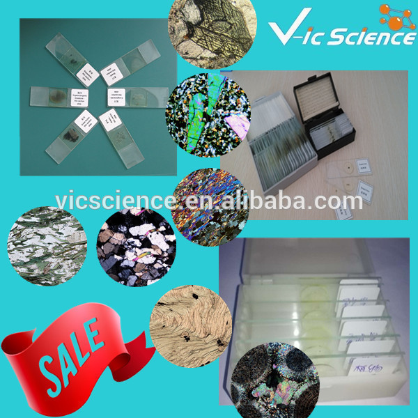 25Pcs Mineral and rock thin slides