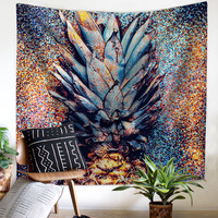 Art style gray pineapple cloth tapestry,multi function tapestry 130*150cm, table cloth, wall cloth, wearable beach blanket