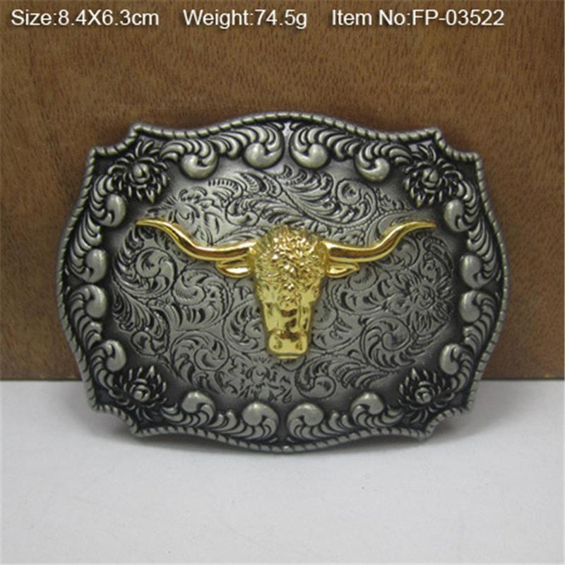High Quality Belt Buckles For Men Belt Diy Accessories Bull Belts Buckles Metal Cowboy Belt Buckle For Jeans AK0009