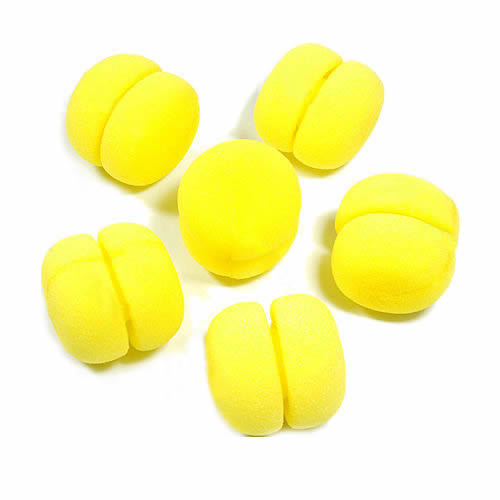 24pcs/lot Yellow Balls Soft Sponge Hair Care Curler Rollers