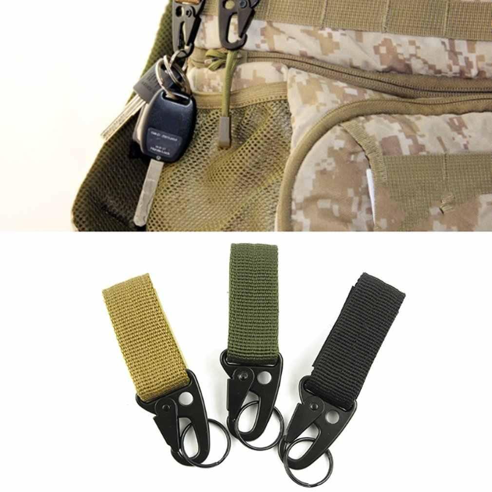 في الهواء الطلق النايلون خطاف المفاتيح حزام مشبك معلق حزام حلقة تسلق كليب متعددة الوظائف التخييم تسلق التنزه معدات Buckles
