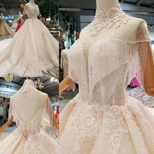 Real Photo Luxury Cap  Sleeve Evening Dress Backless Ivory Crystal Chapel Train Grey Off -Shoulder